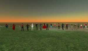 "SL Avatars Form ""Human"" Chain for Burma"