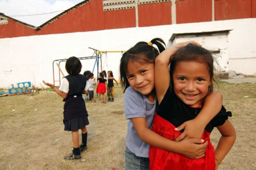 Kids at SafePassage in Guatemala